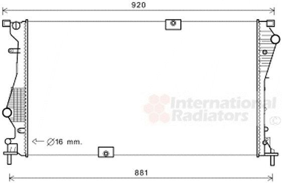Radiateur, refroidissement du moteur - VAN WEZEL - 43002601
