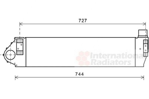 Intercooler, échangeur - VAN WEZEL - 43004482