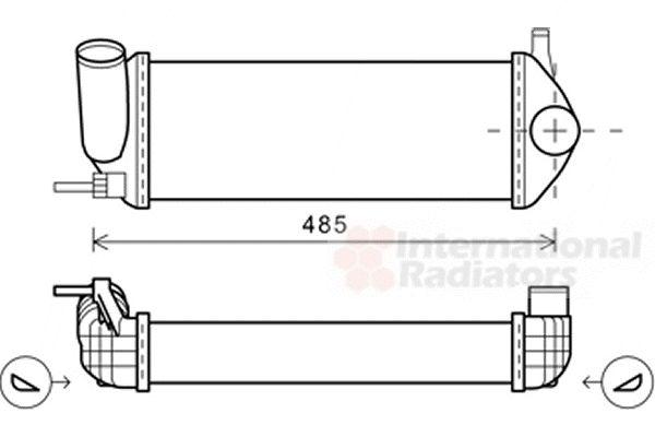 Intercooler, échangeur - VAN WEZEL - 43004484