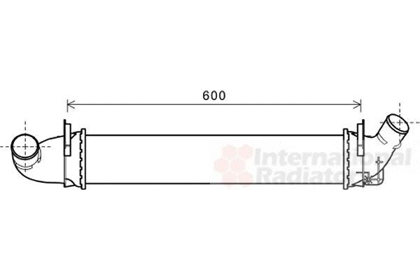 Intercooler, échangeur - VAN WEZEL - 43004496