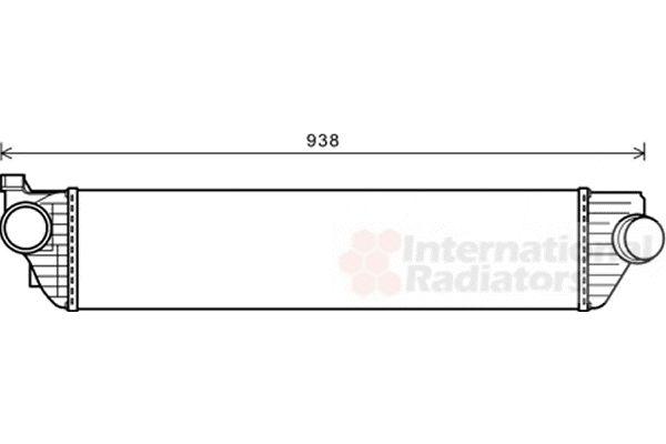 Intercooler, échangeur - VAN WEZEL - 43004498