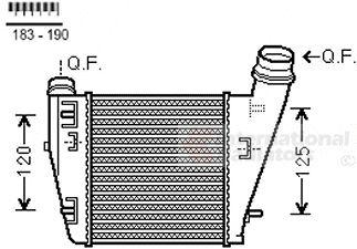 Intercooler, échangeur - VAN WEZEL - 43004552