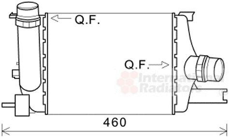 Intercooler, échangeur - VAN WEZEL - 43004602