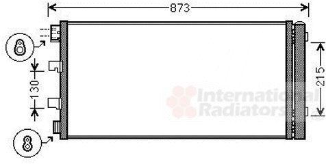 Condenseur, climatisation - VAN WEZEL - 43005475