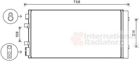 Condenseur, climatisation - VAN WEZEL - 43005483