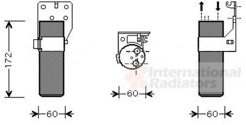 Filtre déshydratant, climatisation - VWA - 88VWA4300D355