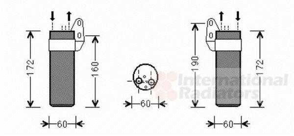 Filtre déshydratant, climatisation - VAN WEZEL - 4300D450