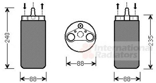 Filtre déshydratant, climatisation - VAN WEZEL - 4300D453
