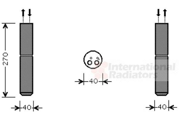 Filtre déshydratant, climatisation - VAN WEZEL - 4300D493