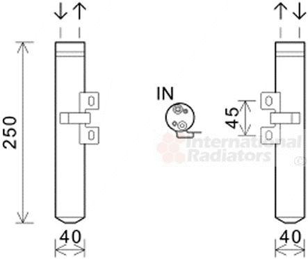 Filtre déshydratant, climatisation - VAN WEZEL - 4300D557