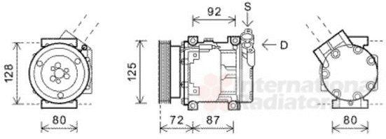 Compresseur, climatisation - VAN WEZEL - 4300K468