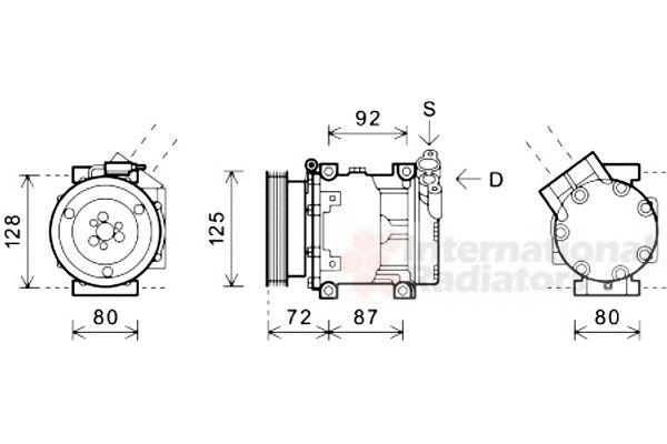 Compresseur, climatisation - VAN WEZEL - 4300K479