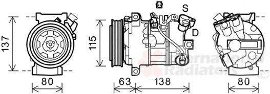 Compresseur, climatisation - VAN WEZEL - 4300K491