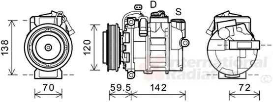 Compresseur, climatisation - VAN WEZEL - 4300K494