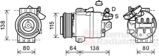 Compresseur, climatisation - VAN WEZEL - 4300K565