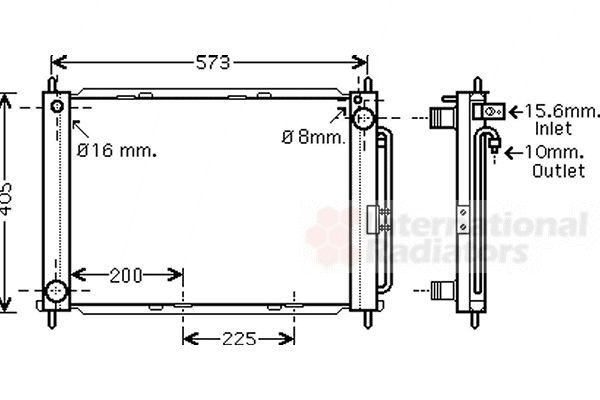 Radiateur, refroidissement du moteur - VAN WEZEL - 4300M499