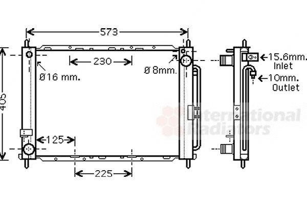 Radiateur, refroidissement du moteur - VAN WEZEL - 4300M500