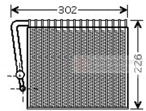 Evaporateur climatisation - VAN WEZEL - 4300V356