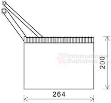Evaporateur climatisation - VAN WEZEL - 4300V562