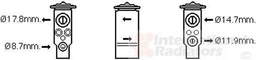 Détendeur, climatisation - VAN WEZEL - 47001076