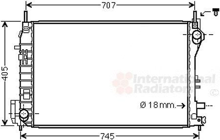 Radiateur, refroidissement du moteur - VAN WEZEL - 47002077