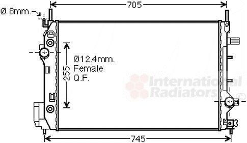 Radiateur, refroidissement du moteur - VAN WEZEL - 47002080