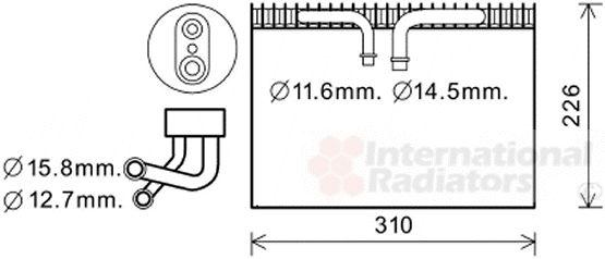 Evaporateur climatisation - VAN WEZEL - 4700V075