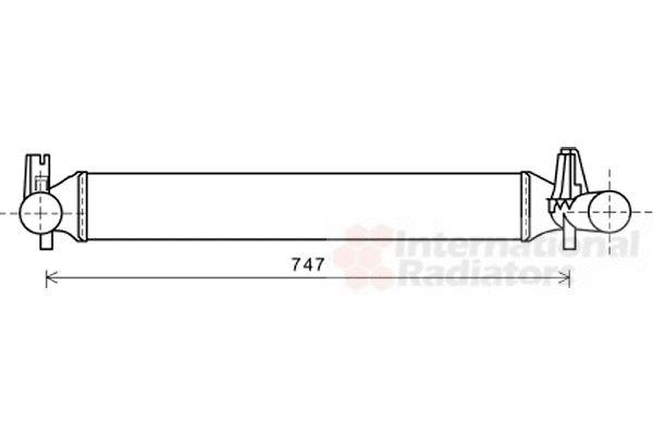 Intercooler, échangeur - VAN WEZEL - 49004042