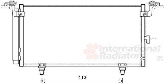 Condenseur, climatisation - VAN WEZEL - 51005084