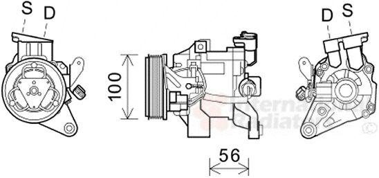 Compresseur, climatisation - VAN WEZEL - 5100K096
