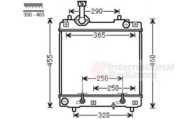 Radiateur, refroidissement du moteur - VAN WEZEL - 52002114