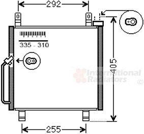 Condenseur, climatisation - VAN WEZEL - 52005119