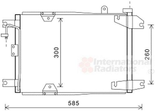 Condenseur, climatisation - VAN WEZEL - 52005132