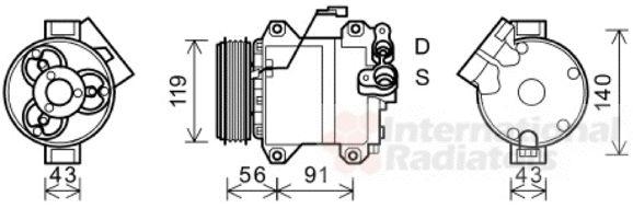 Compresseur, climatisation - VAN WEZEL - 5200K121