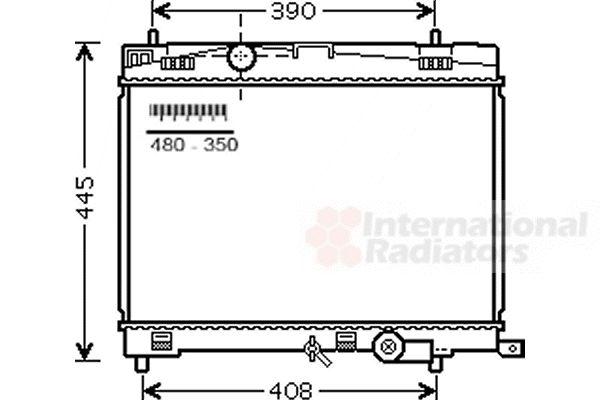 Radiateur, refroidissement du moteur - VAN WEZEL - 53002498