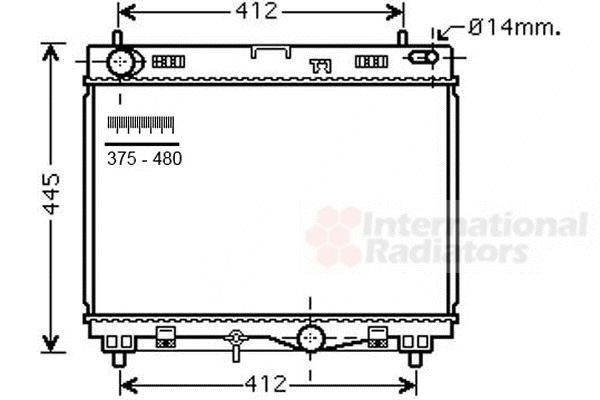 Radiateur, refroidissement du moteur - VAN WEZEL - 53002500