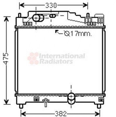 Radiateur, refroidissement du moteur - VAN WEZEL - 53002501