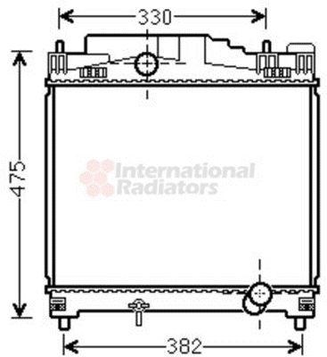 Radiateur, refroidissement du moteur - VAN WEZEL - 53002502