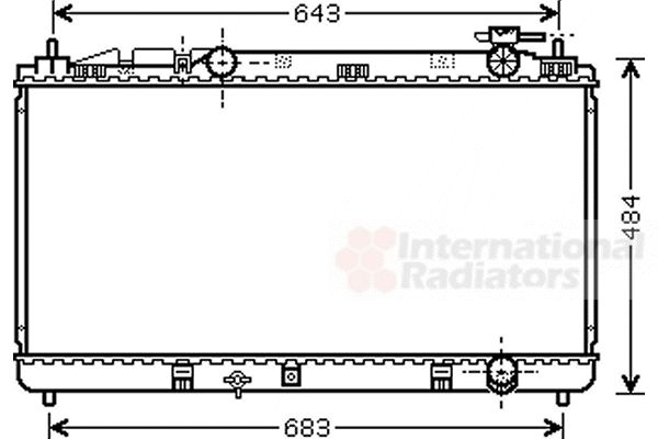 Radiateur, refroidissement du moteur - VWA - 88VWA53002598