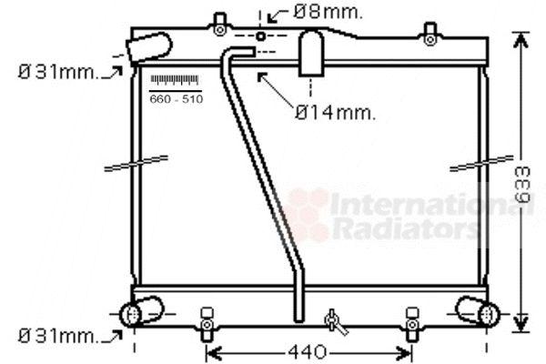 Radiateur, refroidissement du moteur - VAN WEZEL - 53002601