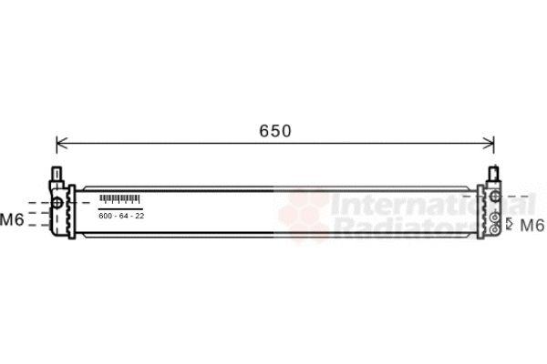 Radiateur, refroidissement du moteur - VAN WEZEL - 53002602