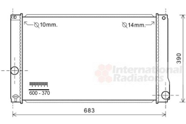 Radiateur, refroidissement du moteur - VAN WEZEL - 53002608
