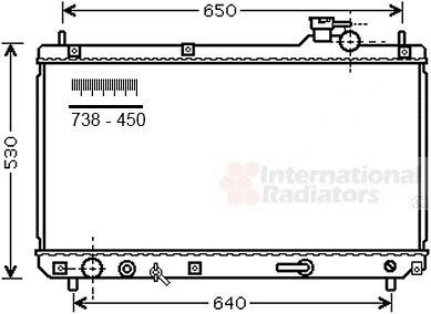 Radiateur, refroidissement du moteur - VAN WEZEL - 53002614