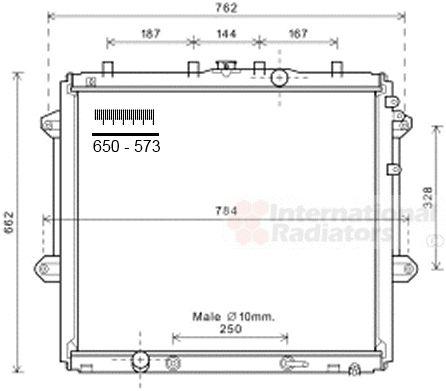 Radiateur, refroidissement du moteur - VAN WEZEL - 53002616