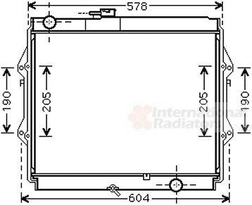 Radiateur, refroidissement du moteur - VAN WEZEL - 53002642