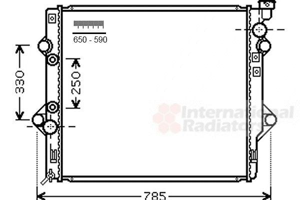 Radiateur, refroidissement du moteur - VAN WEZEL - 53002644