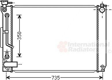 Radiateur, refroidissement du moteur - VAN WEZEL - 53002648