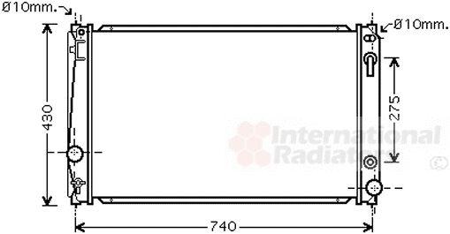 Radiateur, refroidissement du moteur - VAN WEZEL - 53002651