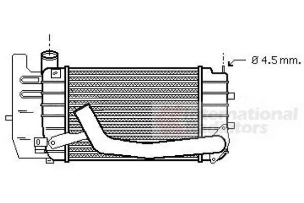Intercooler, échangeur - VAN WEZEL - 53004361