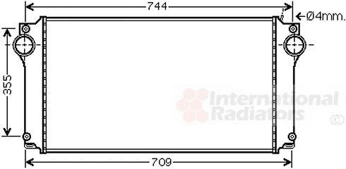 Intercooler, échangeur - VAN WEZEL - 53004362